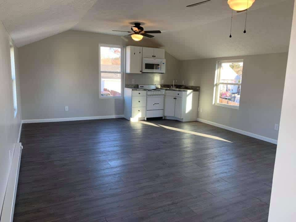 New Garage Interior with Open Floor Plan