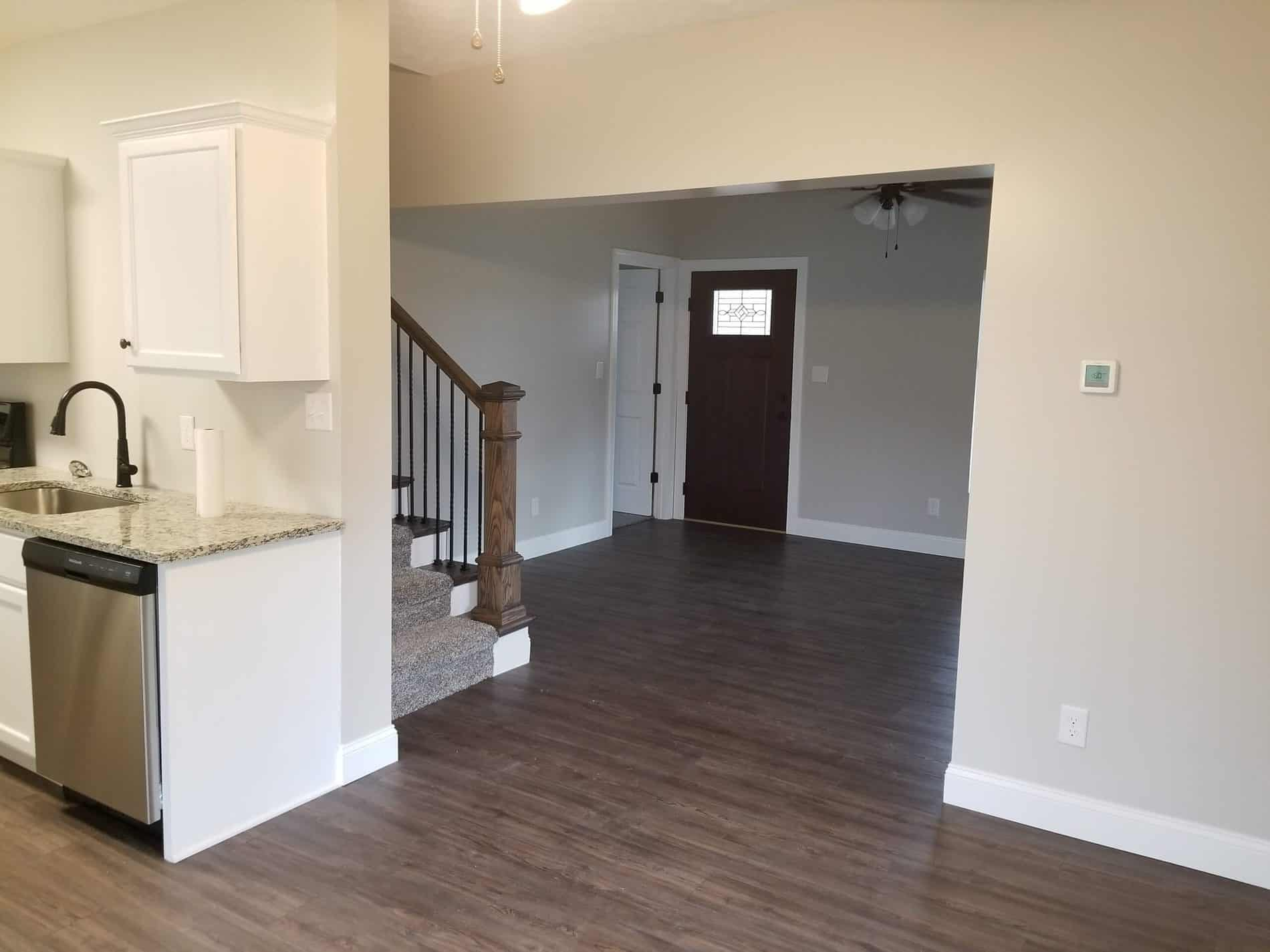 Kitchen Remodeling with entrance to living room