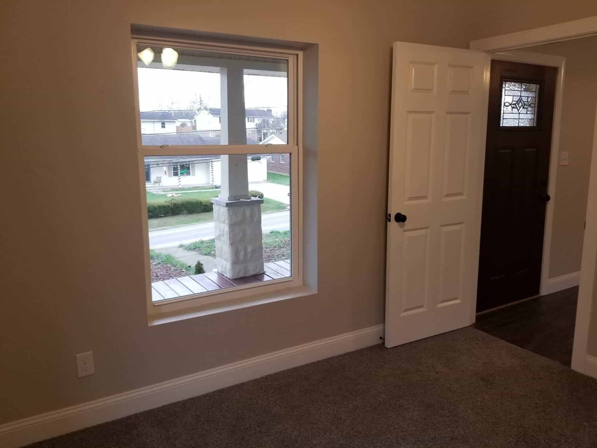 Bedroom Remodeling by Home Remodeler with Front Porch view