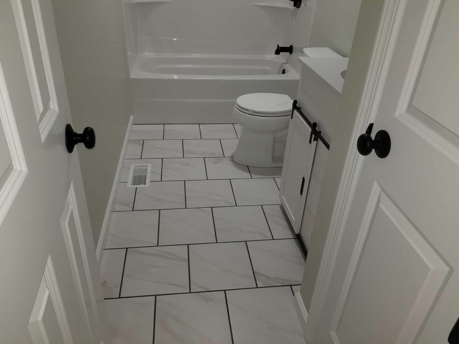 Hurricane Restoration for Guest Bathroom Renovation