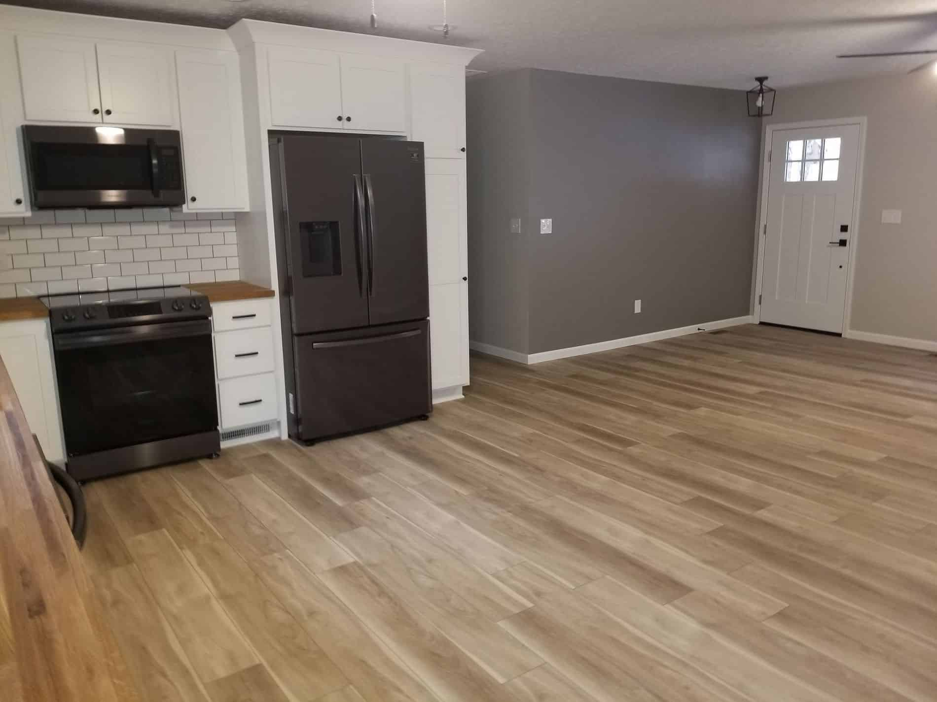 Hurricane Restoration for Kitchen and Living Room of Culloden Home