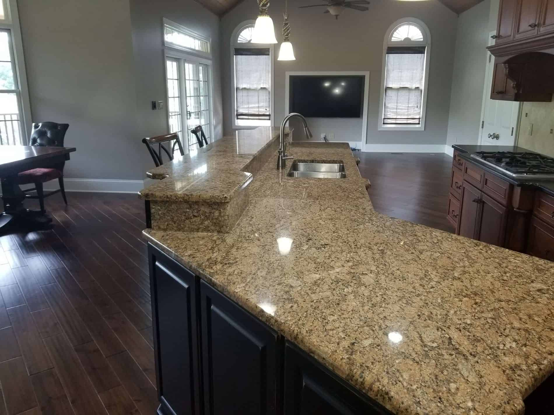 Kitchen Restoration Contractor finishes after Water Damage