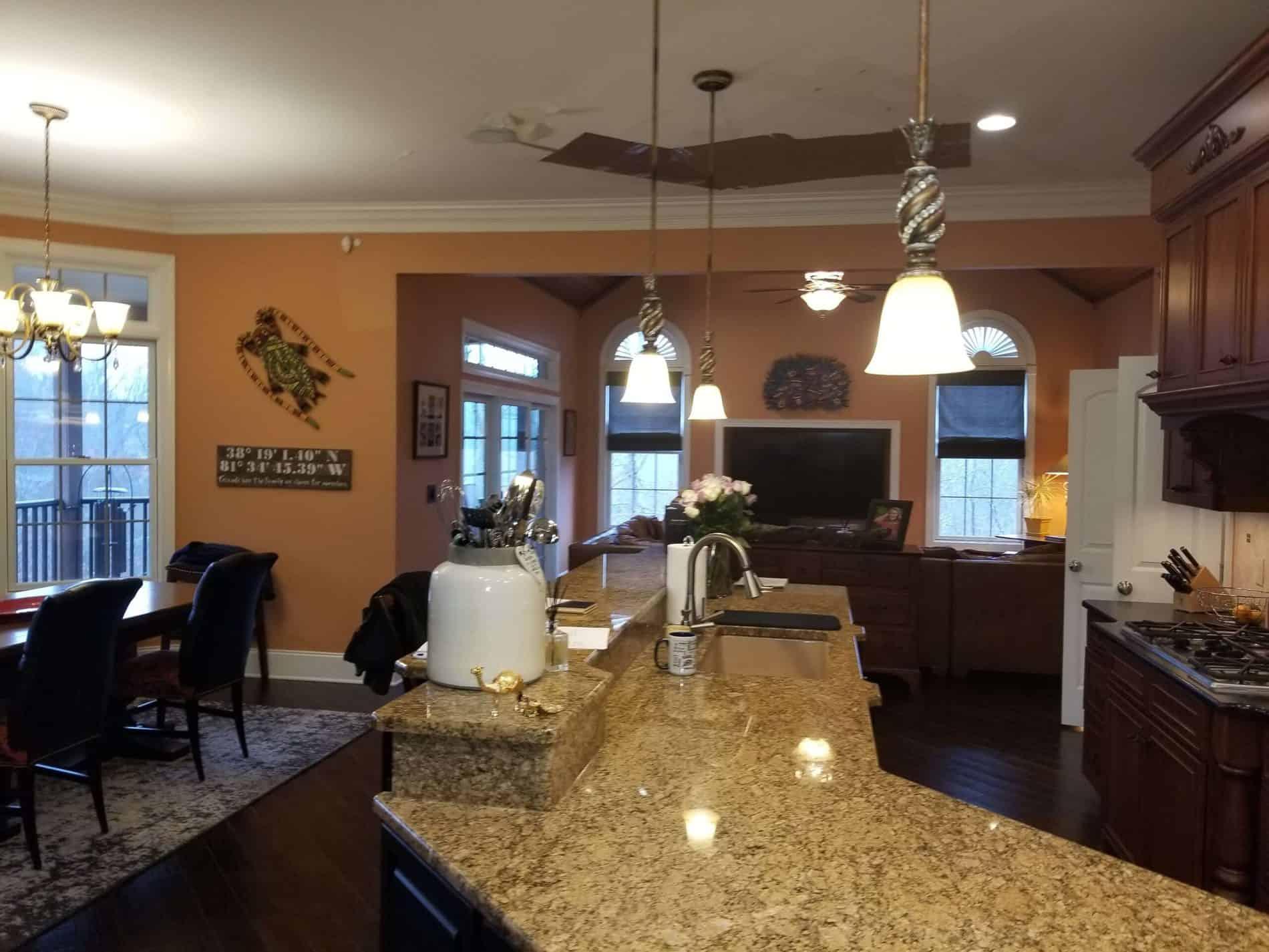 South Charleston Water Damage in Kitchen